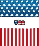 American flag. Stylish american flag with gradients Stock Images