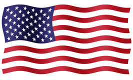 American flag. Illustration of a flag of United States of America perfect for the Fourth of July and other patriotic events vector illustration