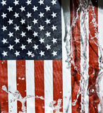 American flag. Splashing water.National flag Stock Images