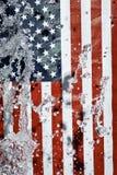 American flag. Creative Splash water Royalty Free Stock Images