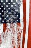 American flag. Creative Splash water Royalty Free Stock Photos