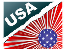 american flag Διανυσματική απεικόνιση