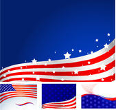 American flag. Set of four American flag styled backgrounds Royalty Free Stock Photo