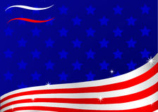 American flag. An American flag stile  background Stock Photography