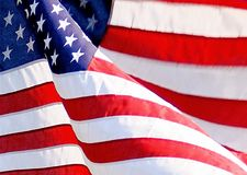 American Flag. High res photo of real American flag waving Stock Image