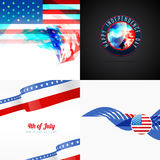 American flag abstract background with creative illustration Stock Photos