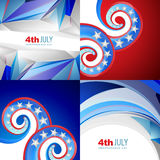 American flag abstract background with creative illustration Stock Images