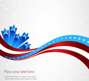 American flag, abstract background of the Royalty Free Stock Photography