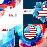 American flag abstract background Stock Photos