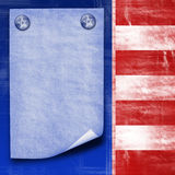 American flag abstract design Stock Photo