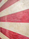 American Flag Abstract II - Stripes. Extreme close-up of red and white stripes of one story tall painted American flag on wall.  Forced perspective Royalty Free Stock Photography
