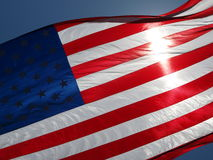 American Flag against sky Royalty Free Stock Image