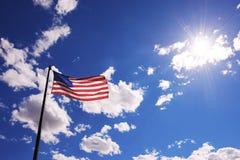 American flag against sky Stock Image