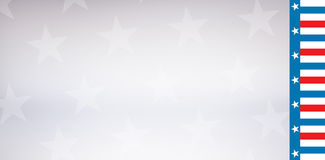 American flag against stary background. Cropped image of American flag against starry background Stock Images