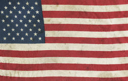 American flag. Aged vintage American flag background royalty free stock photos