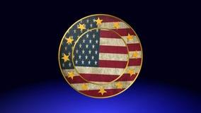 American flag. Best animation flag stock footage