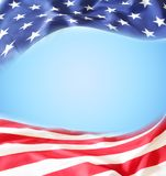 American flag. On blue background Royalty Free Stock Photography