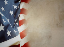 American flag. On brown background Royalty Free Stock Photo