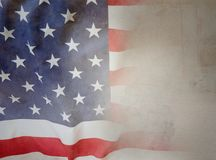 American flag. On brown background Royalty Free Stock Image