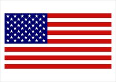 American Flag. Vector, available png royalty free illustration