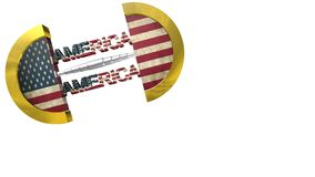 American flag, animation. Beautiful background animation stock footage