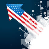 American flag arrow Royalty Free Stock Image