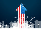 American flag arrow Stock Photography