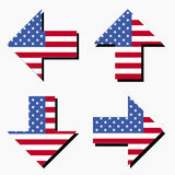 American flag arrows Royalty Free Stock Images