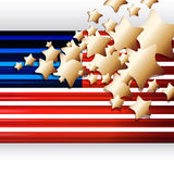 American Flag as background Stock Photo