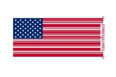 American flag as bar code Royalty Free Stock Photo