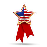 American flag as star shaped symbol. Royalty Free Stock Photography