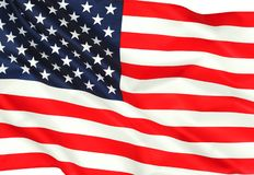 American flag as a symbol of independence royalty free stock photos