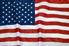 American flag background. Isolated close up Stock Image