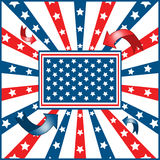 American flag background. With stars and stripes symbolizing 4th july independence day stock illustration
