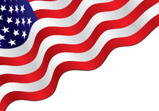 American flag background. American flag diagonal background, can use for simple text Royalty Free Stock Photos