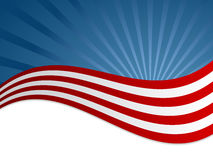 American flag background. American flag diagonal background, can use for simple text Royalty Free Stock Photography