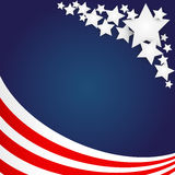 American Flag Background Royalty Free Stock Photos