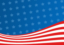 American Flag background Stock Photos