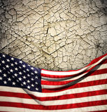 American flag. The american flag on the background Royalty Free Stock Photos
