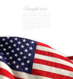 American flag. The american flag on the background Royalty Free Stock Images