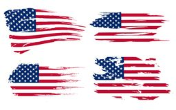 American flag background. Fully editable vector illustration, can be scaled to any size without quality loss royalty free illustration