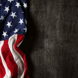 American Flag Background Stock Photo