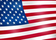 American flag, background. Vector illustration- drawing Royalty Free Stock Image