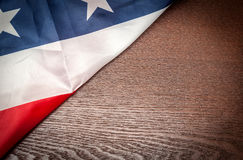 American flag background with copy space Royalty Free Stock Photography