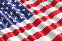 American flag background, 3D. Rendering Stock Images