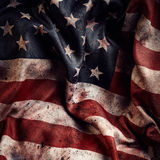 American flag background with dirt and blood stock photo