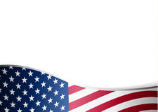 American flag background. With frame Royalty Free Stock Images