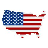American flag background,illustration. American flag background,best illustration Stock Images