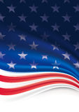 American Flag Background. For Independence Day stock illustration