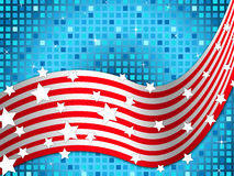 American Flag Background Means Nation And Glittering Squares Royalty Free Stock Images